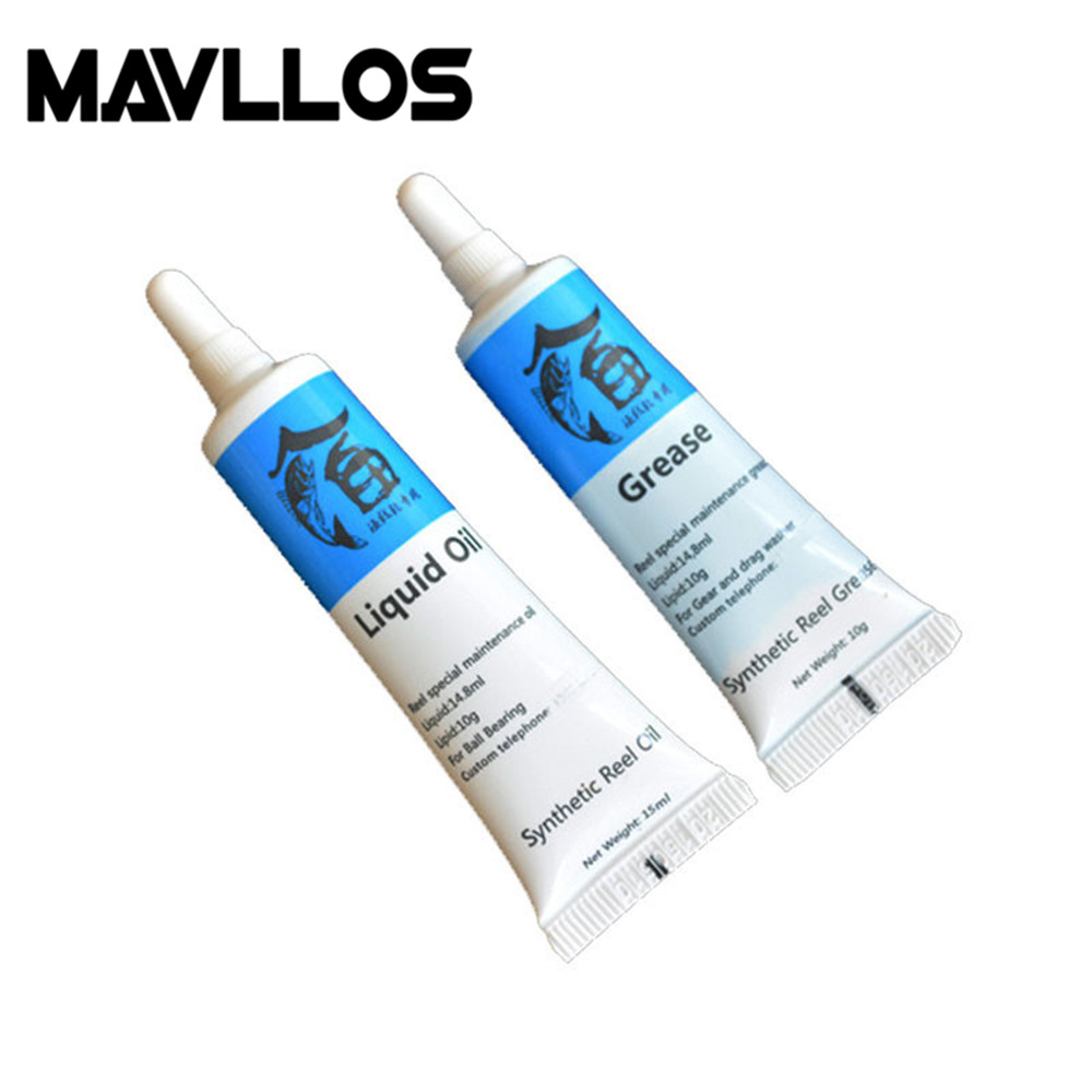 Mavllos Fishing Reel Runing Bearings Oil Grease 2pcs/set Fishing Gear Oil for Spinning Casting Fishing Reel