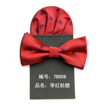 2019 Bow Tie And Handkerchief Set Ties For Men Paper Hanky Bowtie Pocket Square Skull Dot Corbata