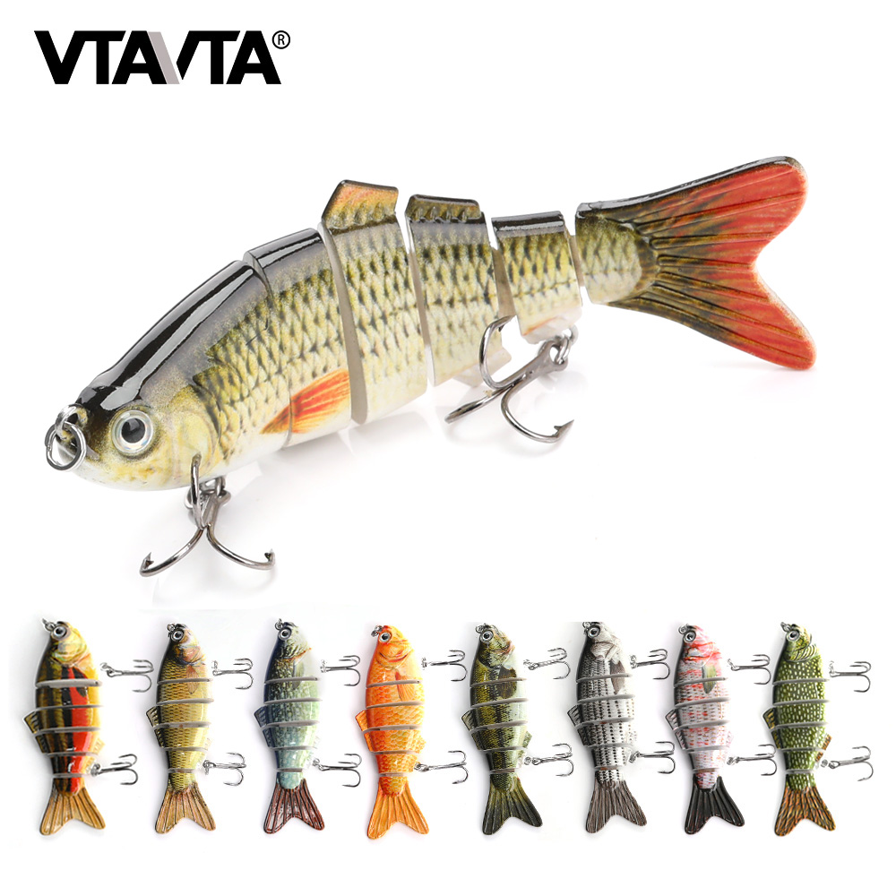 VTAVTA 1pc Multi Jointed Hard Bait 10cm 17.5g Lifelike Crankbait Wobbler For Fish 6 Segments Swimbait Artificial Fishing Lure