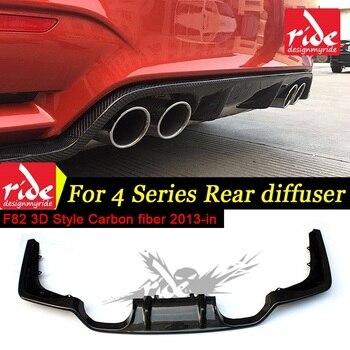 F80 Real carbon fiber Auto hintere stoßstange lip spoiler diffusor für F80 M3 M4 F82 F83 428i 2013-18 standard Und Cabrio 3D-Style