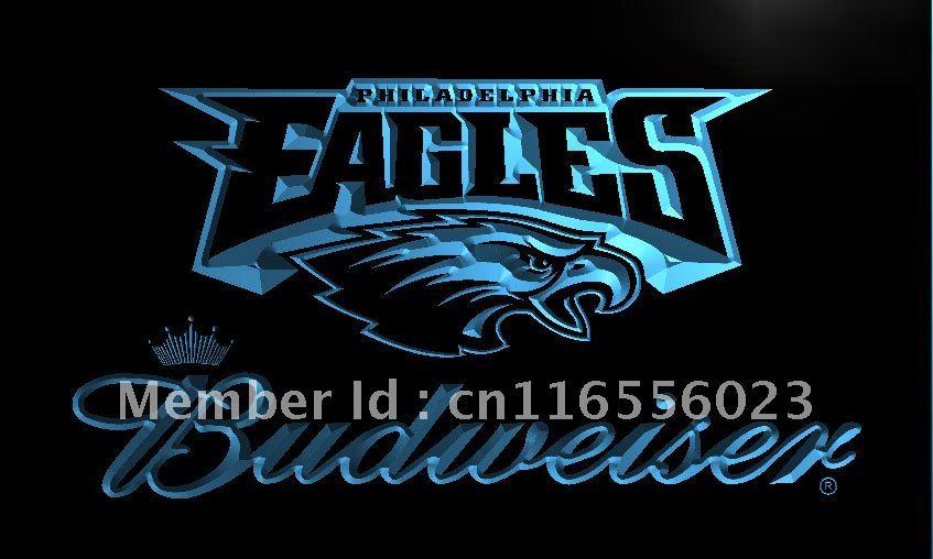 LD284 Philadelphia Eagles Budweiser NR LED Neon Light Sign