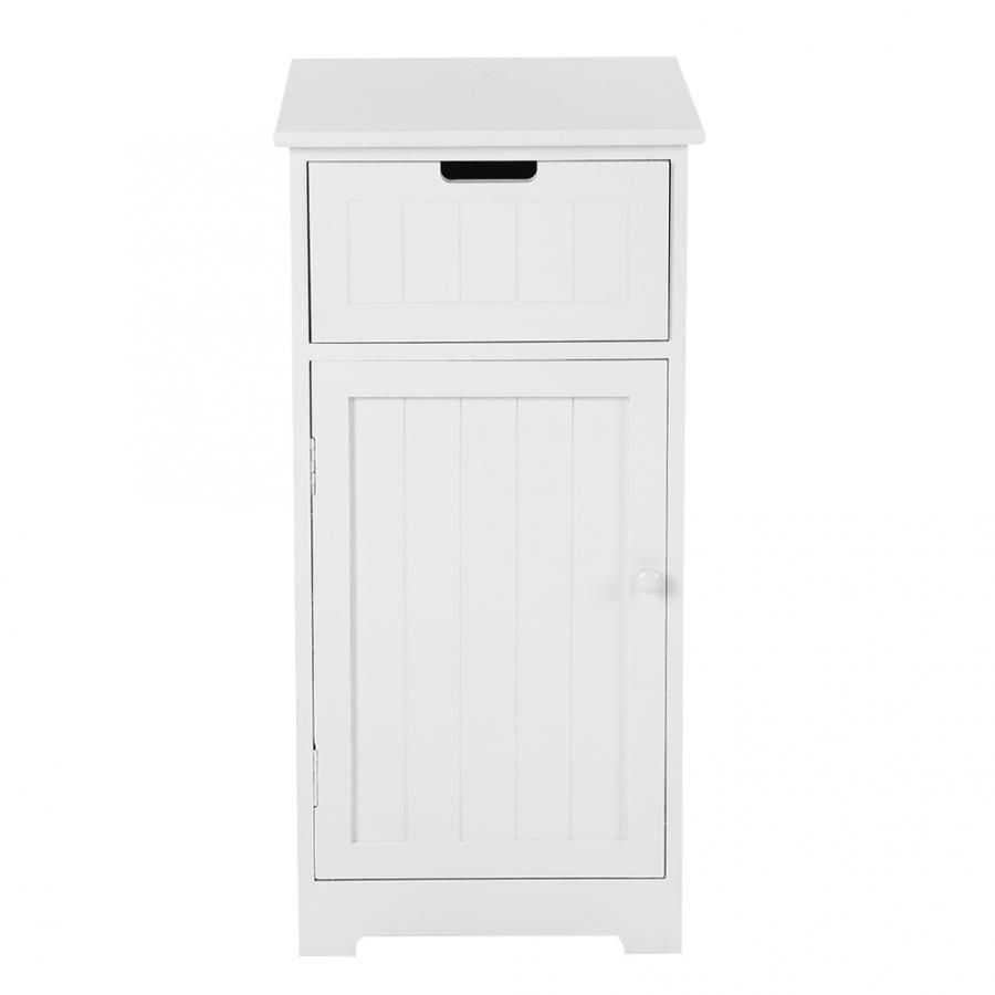 Bathroom Cabinet Standing Storage Cupboard Bathroom Furniture White 40*40*81.5CM Storage Cabinet