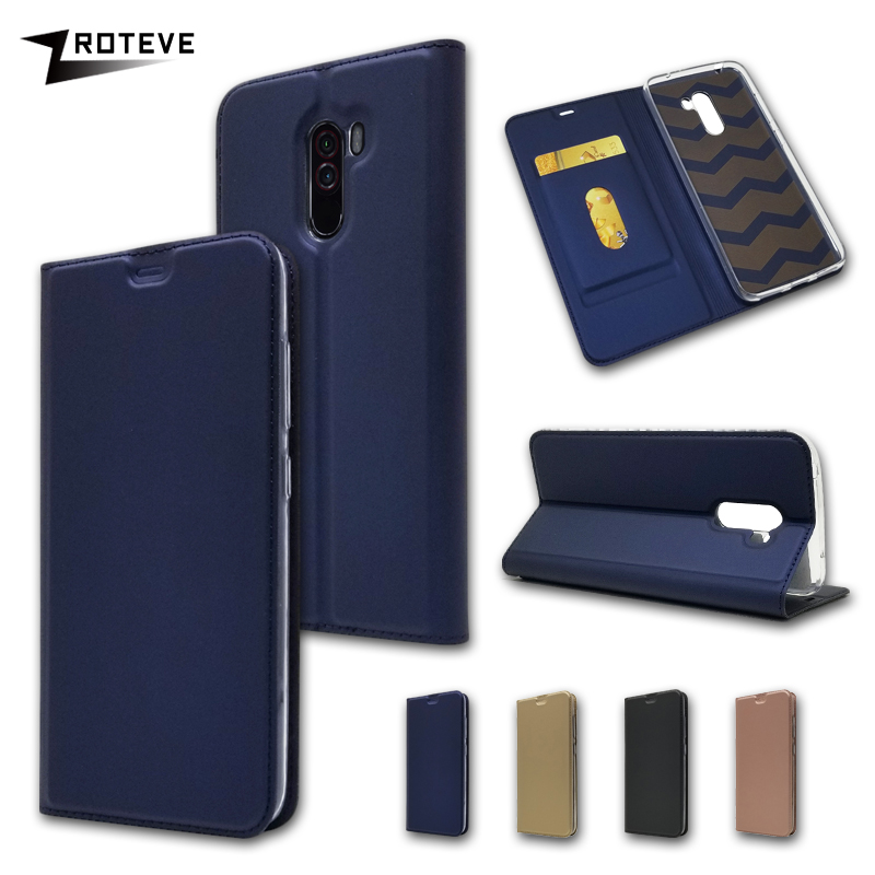 Case For Pocophone F1 ZROTEVE PU Leather Magnetic Cover Card Pocket Wallet Case For Xiaomi Pocophone Poco F1 F 1 Case Funda