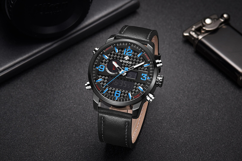 WWOOR 8859 Watch Men Top Brand Luxury Quartz Men\'s Business Military Wrist Watches Leather Analog Clock Men relogio masculino (8)