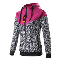 Spring And Fall New Women S Sports Jacket Hooded Jacket Women Fashion Casual Thin Windbreaker Zipper