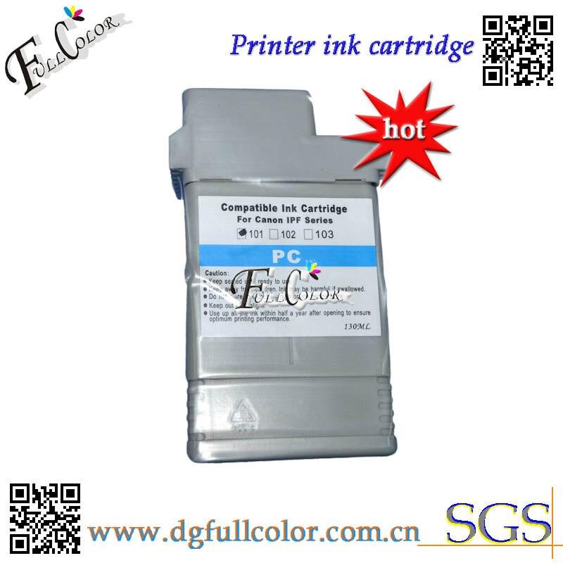 Бесплатная доставка PFI101 резервуар для чернил с Высококачественная смоляная лпковая пигментными чернилами и оригинальная микросхема для ...