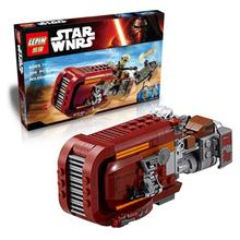 LEPIN 05001 Rey's Speeder Assembled Star Wars Minifigures Building Block Christmas Toys Gift Compatible Legoe