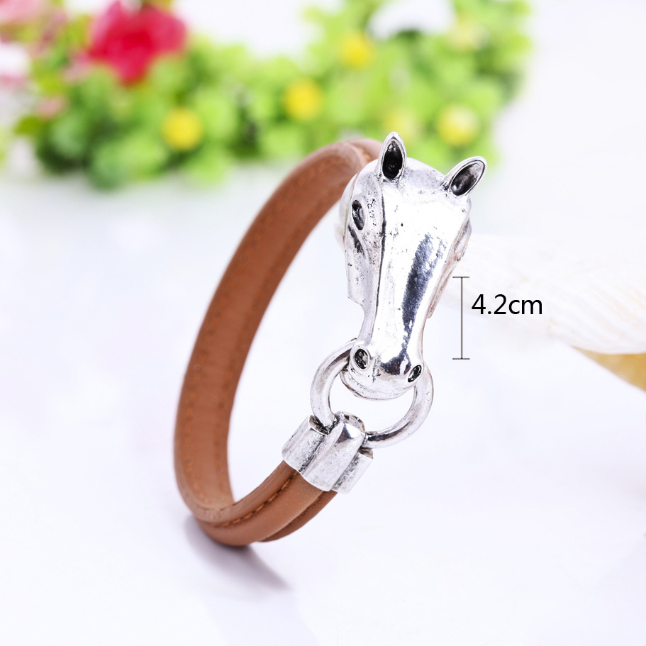 42cm Horse Head Leather Men...