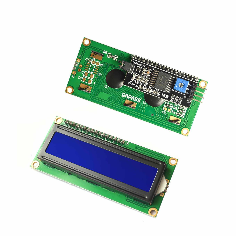 Módulo LCD pantalla azul PCF8574 IIC/I2C 1602 LCD pantalla amarillo-verde para Arduino UNO r3 mega2560 KIT DIY