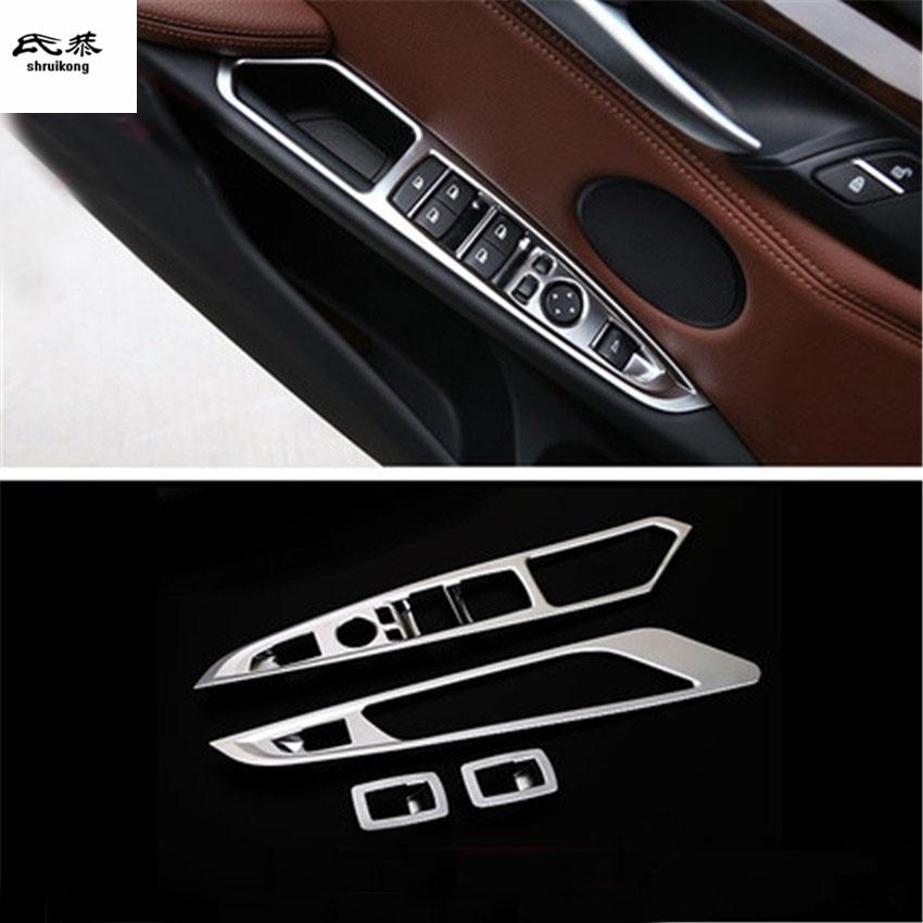 4 pcs/lot ABS voiture lève-vitre panneau décoration couverture pour 2014-2018 BMW X5 F15/X6 F16 voiture accessoires