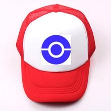 Pokemon Ash Ketchum Hat logo Baseball Cap Men Women Girl Boy Snapback Hat Hip Hop Cap Adjustable Trucker Caps for Birthday Gift