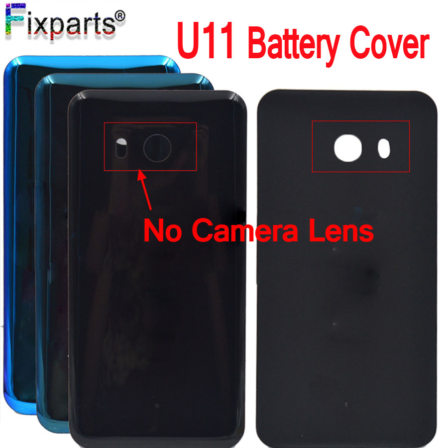 For HTC U11 U-3w W-1w Back Cover Case Battery Door Without Camera Lens Glass Housing 5.5