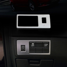 цена на For Mazda 6 Atenza 2013-2016 ABS Plastic Head Fog Light Lamp Adjust Button Switch Control Cover Trim Car Styling Accessories