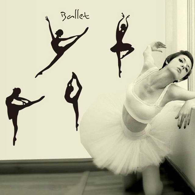 Aliexpresscom Buy DIY Wall Sticker Wall Decals Lovely Ballet