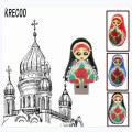 New Gifts Cute Russian Dolls Style Usb Memory Stick Storage High Speed PenDrive 4GB/64GB USB 2.0  Flash Drives Free Shipping