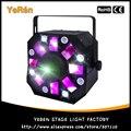3-em-1 Colorido Strobe A Laser Moonflower Efeito RG Movendo Luz Do Estágio do Laser Luz 8 LEDs Brancos ADJ