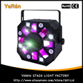 3-in-1 Colorful Laser Strobe Moonflower Effect RG Moving Laser Light 8 White LEDs ADJ Stage Light