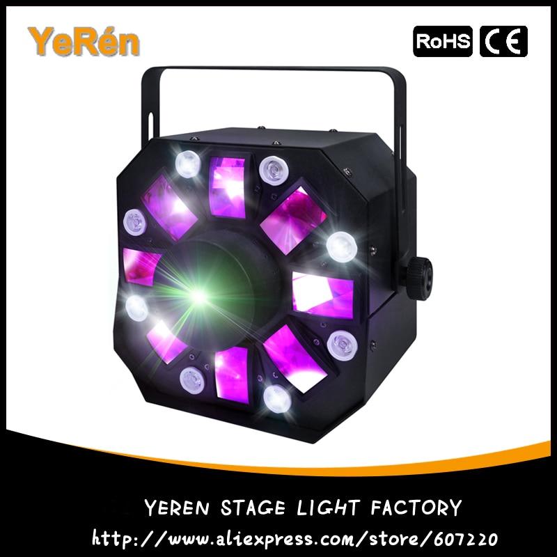 3-in-1 Colorful Laser Strobe Moonflower Effect RG Moving Laser Light 8 White LEDs ADJ St ...