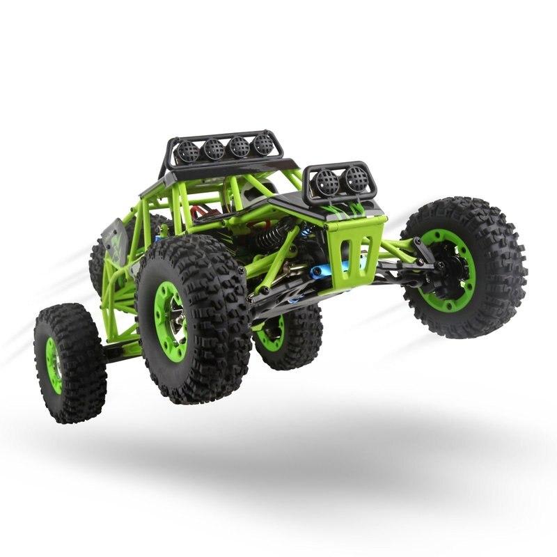 12428 2.4G 4WD 50 KM/H 1:12 Haute Vitesse Électrique Rock camion sur chenilles Nouvelle Voiture RC Hors route Voiture avec lumière led 540 Brossé Moteur RTR