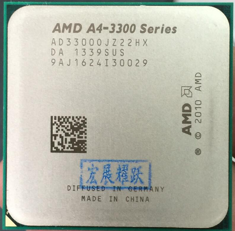 PC AMD A4-Series A4-3300 A4 3300  Dual-Core CPU 100% Working Properly Desktop Processor 100% Working Properly Desktop Processor