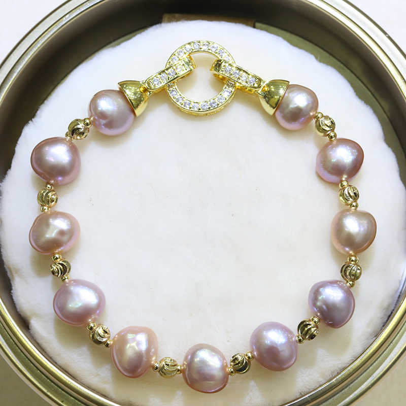 BaroqueOnly High Quality Natural Freshwater Pearl Bracelets ROUND CLASP mixed-colour irregular Pearl Jewelry customizable HD