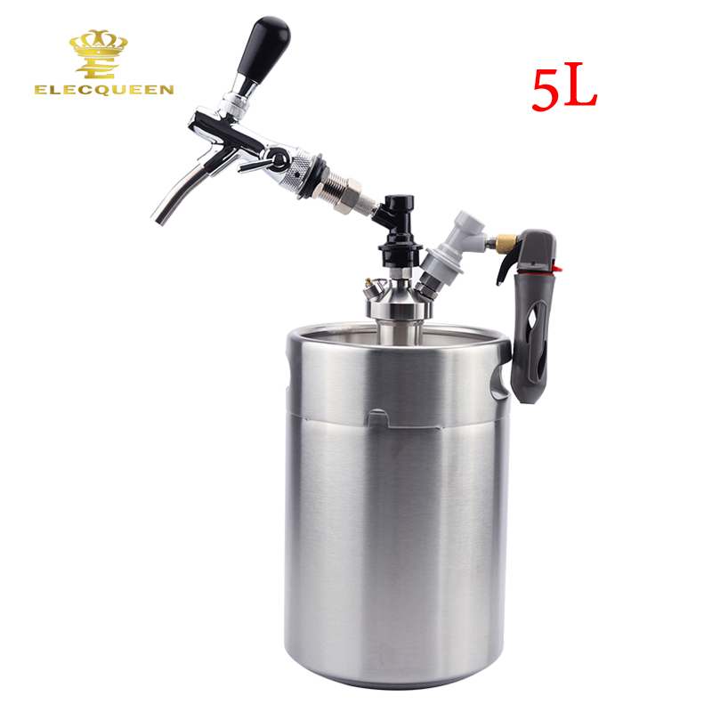 5l Beer Keg Growler With Mini Keg Tap Dispenser And