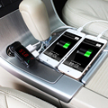 Беспроводная Связь Bluetooth Автомобильный Комплект Зарядное Устройство Стерео Динамик Громкой связи FM Передатчик MP3 аудио Плеер автомобильное зарядное устройство для всех телефонов