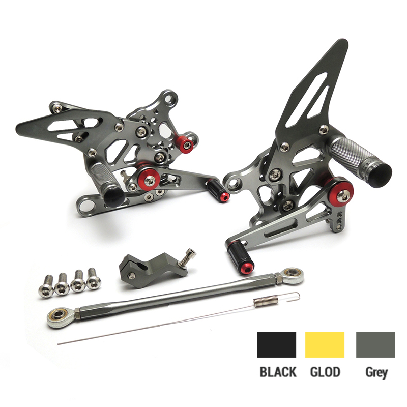 KEMiMOTO Motorcycle CNC Parts--For Aprilia RSV4 2009 2010 2011 2012 Adjustable Rear set Footrests Foot Pegs mad moto high quality motorcycle chain adjuster with paddock bobbin fit for aprilia rsv4 2009 2010 2012 2013 2014 red black