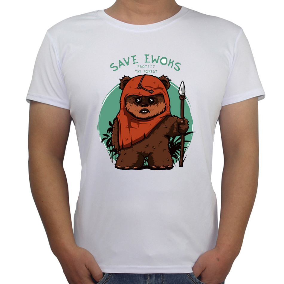 2017 new fashion t shirt men save ewoks design men t shirt for T shirt design 2017