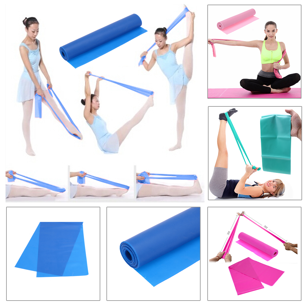 Quality 1.2m Elastic Yoga Pilates Rubber Stretch Exercise Band Tpe Arm Back Leg Fitness Resistance Bands Crossfit Band For Bodybuilding Excellent In