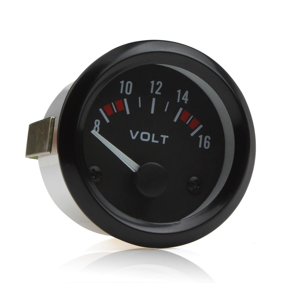 """2"""" 52MM 12V 8~16V Universal LED Electrical Car Voltmeter Voltage Gauge Meter"""