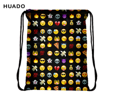 2017 Drawstring backpack emoji Backpacks 3D Printing Bags Women Shoulder Bag Rucksack bolsa feminina  maison fabre jasmine unisex emoji backpacks 3d printing bags drawstring backpack dec20