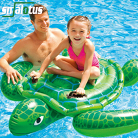 Summer Giant Swan Dolphin Shark Sea Turtle Crocodile 60 inch 1.5m Inflatable Ride On Pool Toy Float Swan Inflatable Swim Ring