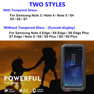 Image 2 - Heavy Duty Protection Doom armor Metal Aluminum phone Case for Samsung Galaxy S5 S6 S7 Note 3 4 5 8 9 Edge S8 S9 Plus Cover