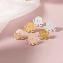Funny Cute Octopus Stud Earrings kids Lovely Acrylic серьги осьминог For Men Women Kids Birthday