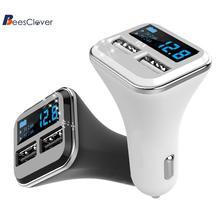 Adeeing 4.8A двойной USB порт автомобильное зарядное устройство для мобильного телефона адаптер отображение напряжения на светодиодном дисплее монитор Crazy Fast автомобильное зарядное устройство r30