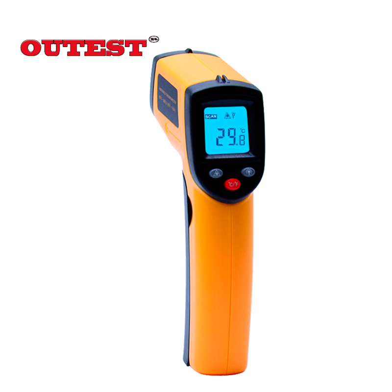10pc infrared thermometer non-contact infrared temperature meter 12:1 laser GM320 -50~380 degree(-58~716F)