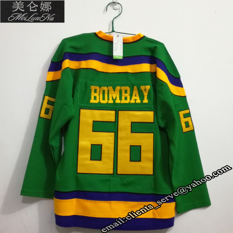 MEILUNNA Mighty Ducks Movie hockey Jersey #66 Gordon Bombay Jersey 6601 Need Custom any personality team Jerseys Pls Contact us кольца sokolov 1011076 s