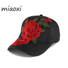 Get miaoxi New Fashion Brand Summer Women Hat Floral Baseball Cap Casual Adjustable Denim Cap Decals Women's Hats BS-016 dispense