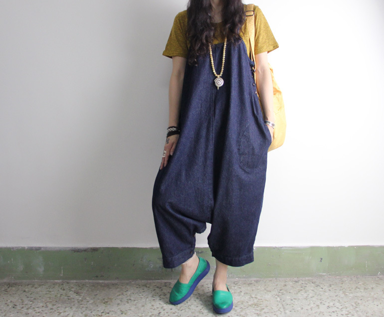 2015 spring product launches, very good cotton and linen fabrics loose big code cowboy harlan womens pants
