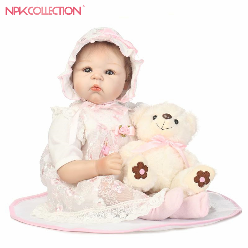 NPK COLLECTION new hot sale lifelike reborn baby doll wholesale baby dolls soft real vinyl silicone Christmas gift for girls new hot 18cm one piece donquixote doflamingo action figure toys doll collection christmas gift with box minge3