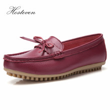 Hosteven Women Shoes Sneaker Loafers Genuine Leather Flats Moccasins Shoes Spring Autumn Female Casual Ladies Leather Footware