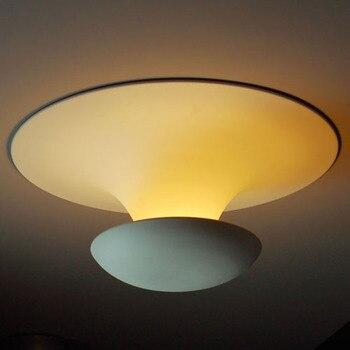 Modern Nodic Simple Funnel Shape LED / T Tube Aluminum White Surface Mounted Ceiling lamp for Porch Corridor Balcony Bedroom