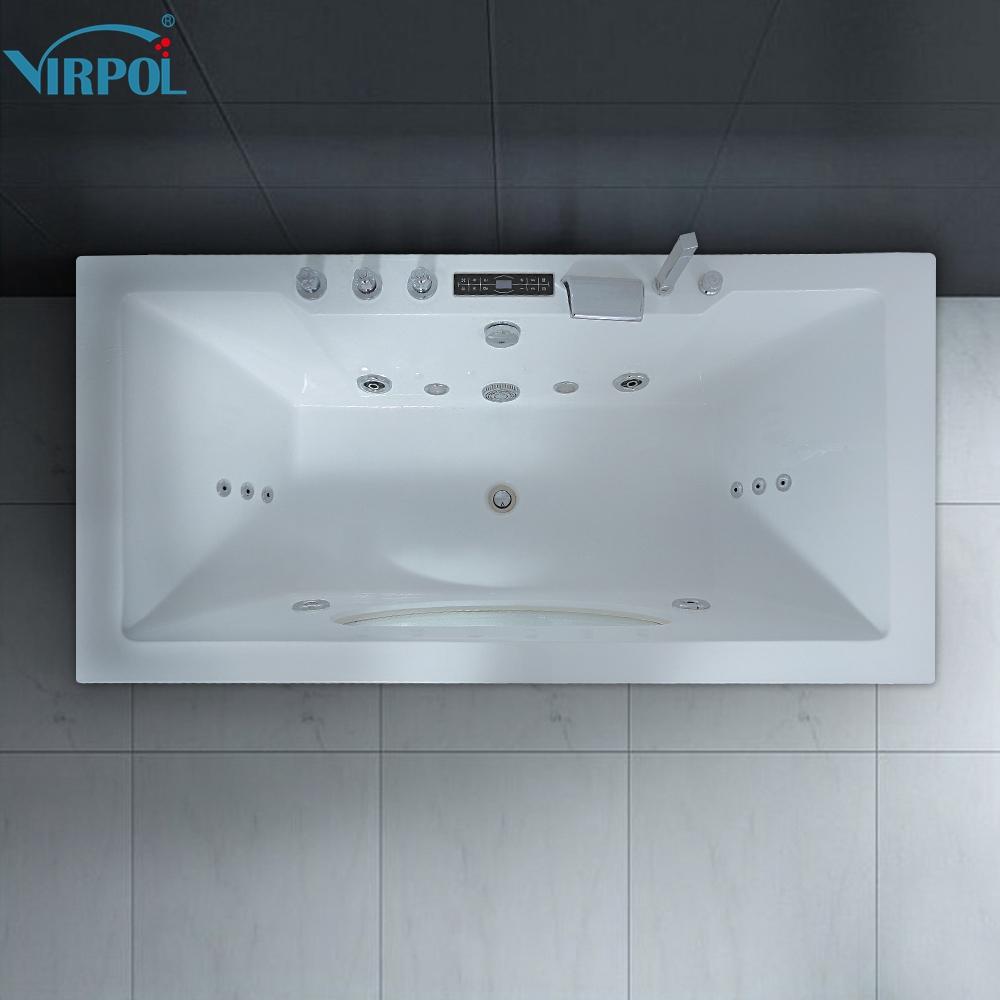 6132 1700mm Whirlpool Bath Piscine Shower Massage Bathtub Spa ...