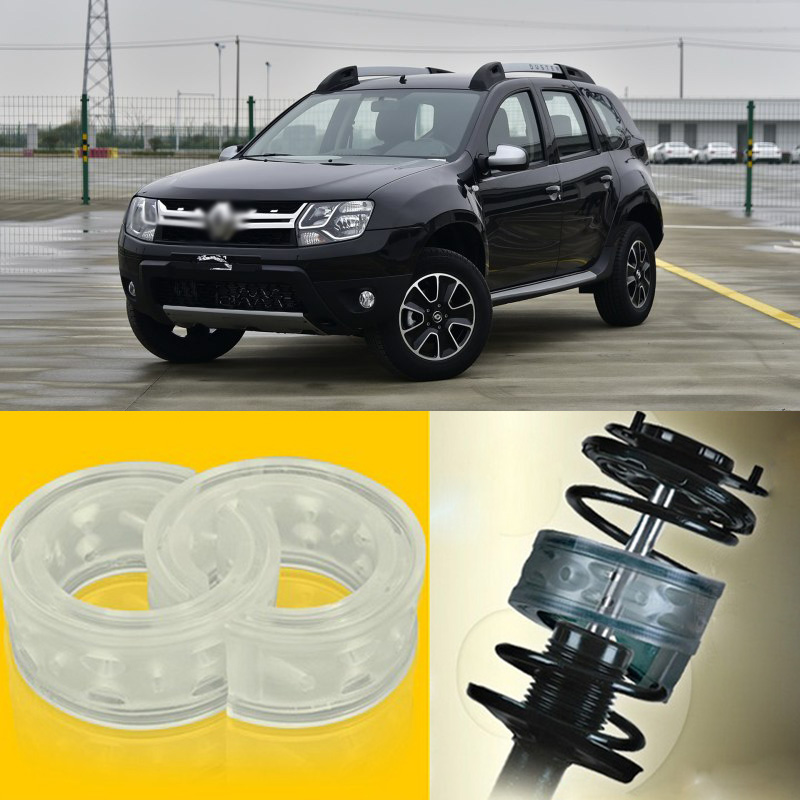 Teeze 2pcs Power Front /Rear Shock Suspension Cushion Buffer Spring Bumper For Renault Duster 2016