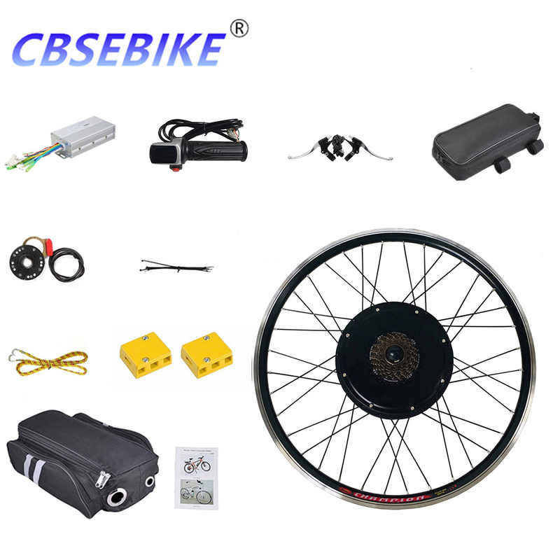 CBSEBIKE 26inch Electric Bike Conversion Kit LCD Display eBike for Rear Bicycle Wheel Motor HC05-26