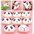 20PCS 10CM Jumbo Squishy Kawaii Cartoon Panda Bun Super Slow Rising Squishy Charm Phone Straps/Wrist Pad/Bag Pendant