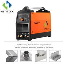 HITBOX Tig Arc Импульсная Tig сварка со стандартными аксессуарами для продажи 220 В сварочный аппарат функциональный сварочный аппарат Tig200P