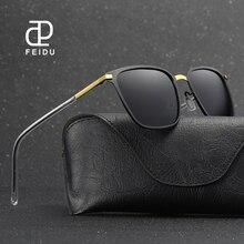 FEIDU Brand 2017 New Polarized Square Sunglasses Men Vintage Alloy Frame Sun Glasses Women Driving Eyeglasses For Male UV400