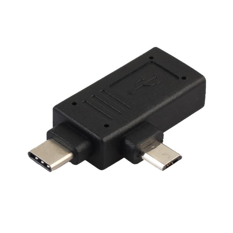 USB 3.1 Тип-C & Micro USB/USB 3.0/USB 2.0 Женский переходник OTG Функция